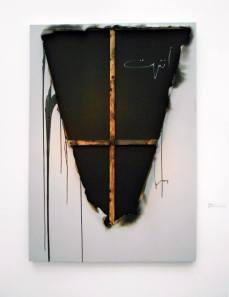 """al Infitar"" The Bursting, Zak Kaghado (сожженный холст на подрамнике)"