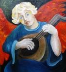 ангел с лютней