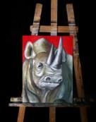 Старый носорог (х/м, 30х40 см)